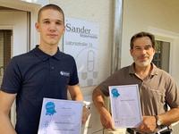 Lasse Janssen und Matthias Sander