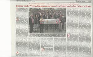 Presseecho nach Bundestagsbesuch